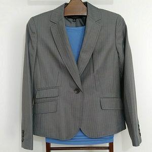 Nine West Blazer Gray With Light Blue Lines